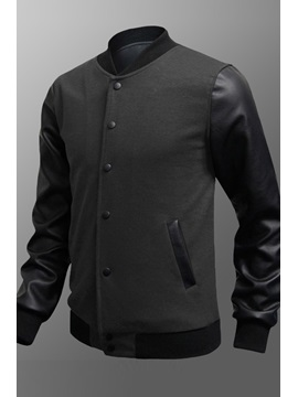 Stand Collar Single Breasted Jacket