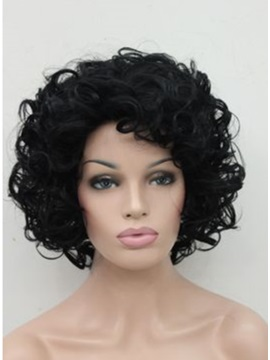 Custom Cheap Short Curly Capless Wig