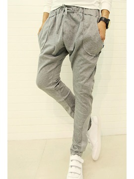 Mid Waist Casual Cotton Pants