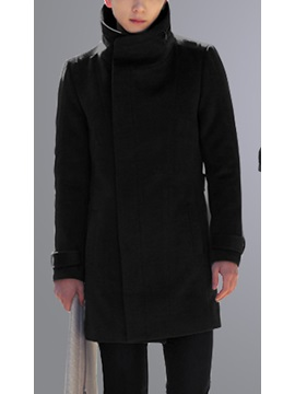 Stand Collar Long Sleeve Overcoat