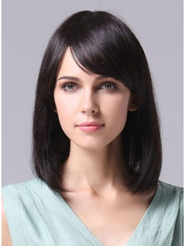 Cheap Straight Human Hair Womens Wig