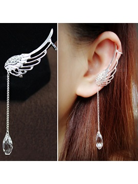 Trendy Angels Wing With Crystal Ear Cuffs Price For A Pair