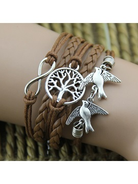 Romantic Lucky Tree With Infinity Multi Layer Best Friend Vintage Bracelet