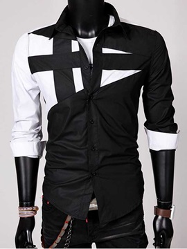 Lapel Long Sleeve Shirt