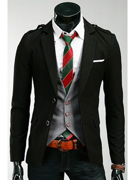 Single Breasted Long Sleeve Mens Jacket