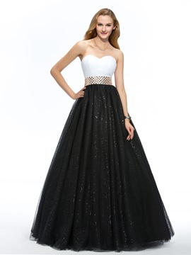Vigorous Sweetheart Ruched A Line Beaded Sash Floor Length Quinceanera Dress
