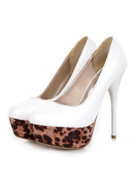 Leopard Platform Stiletto High Heels Prom Shoes