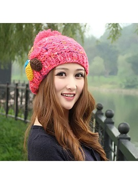 Multi Color Earflap Warm Knitted Hat