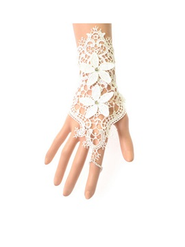 White Alloy Lace Bracelets Price For A Pair