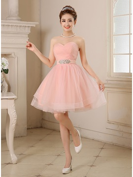 Cute Sweetheart Beading A Line Short Sweet 16 Dress