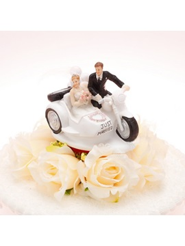 Vehicle Just Married Cake Topper