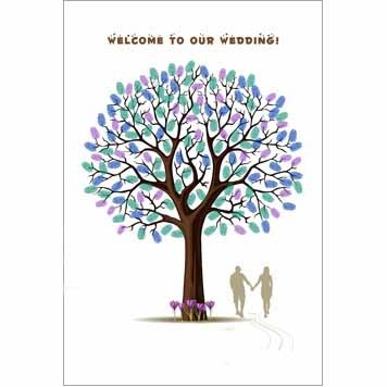 Personalized Walking Hand In Hand Wedding Thumbprint Tree Guest Signature Frames