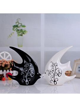 Simple Modern Ceraic Interior Furnishing Articles Home Decoration Crafts Two Pieces
