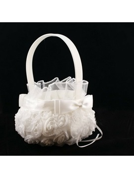 Vigorous Rose Stereo Cloth Wedding Flower Basket
