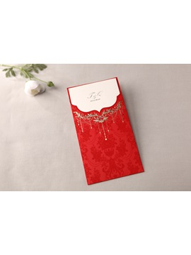 Classic Style Wrap Pocket Invitation Cards 20 Pieces One Set