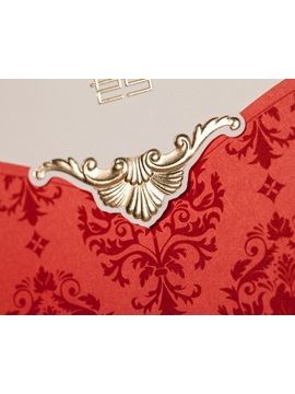 Floral Style Top Fold Invitation Cards 20 Pieces One Set