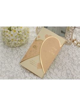 Personalized Tri Folds Wedding Invitation Cards 20 Pieces One Set