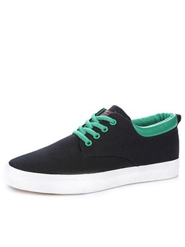Lace Up Round Toe Canvas Shoes For Men