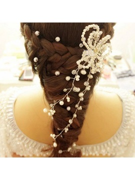 Flower Shaped Pearl Bridal Hair Flower