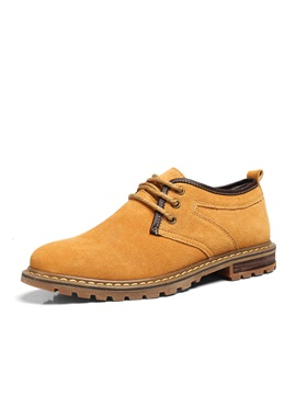 Solid Color Nubuck Lace Up Derbies