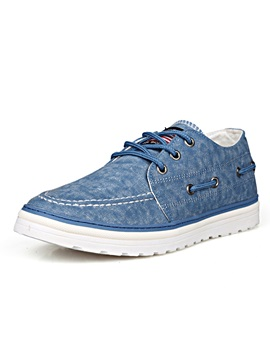 Solid Color Lace Up Canvas Shoes