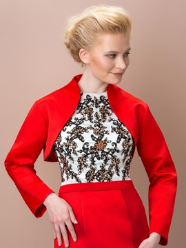 Elegant Long Sleeves Short Wedding Jacket
