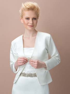 Vintage Long Sleeves One Button Wedding Jacket