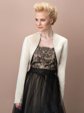 Long Sleeves Beading Wedding Jacket
