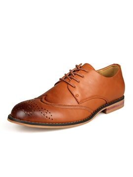 Patent Leather Brush Off Brogue Shoes