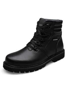 Black Patent Leather Lace Up Martin Boots