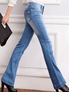 Mid Waist Front Jeans