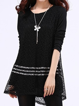 Solid Color Sequin Long Sleeve T Shirt