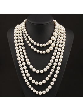 New Luxury Style Multi Layer Pearl Women Necklace