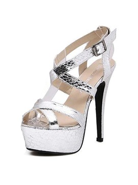 New Sensual Cross Strap Stiletto Heel Sandals