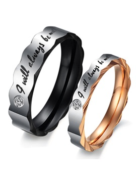 Letters Rhinestone Lovers Rings Price For A Pair