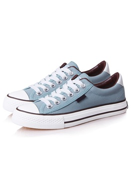 Classic Solid Color Lace Up Canvas Shoes