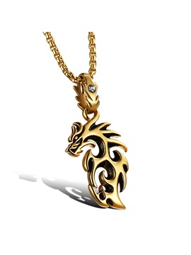 Handsome Hollow Out Dragon Necklace For Men