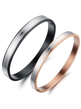 New 316l Titanium Steel Lovers Bangles Price For A Pair