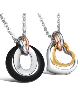 New Nice 316l Titanium Steel Lovers Necklaces Price For A Pair