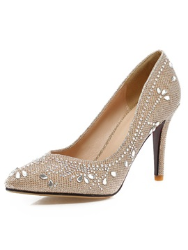 Trendy Sequin Studded Stiletto Heel Pumps