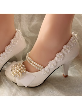 Pearl High Heel Wedding Shoes