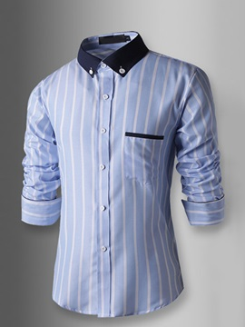 Color Block Striped Long Sleeve Shirt