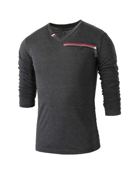 Striped Round Neck Long Sleeve T Shirt