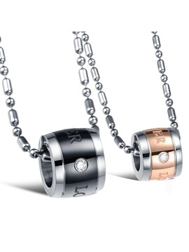 Forever Love 316l Titanium Steel Lovers Necklaces Price For A Pair