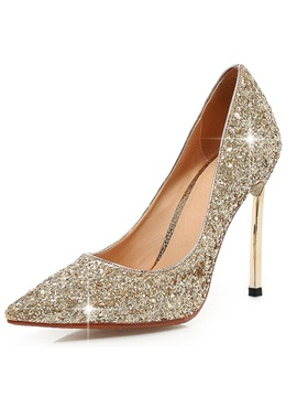 New Shining Pu Stiletto Heels Womens Pumps
