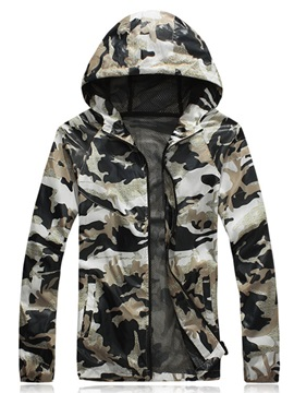 Relaxed Fit Camo Print Hood Activewear