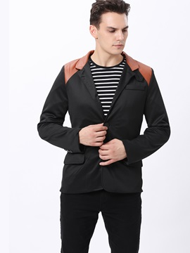 Slim Fit Belt Collar Mens Coat