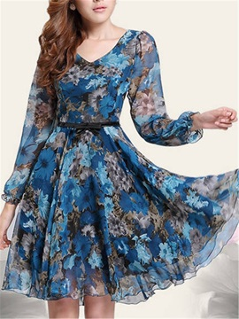 Chic Chiffon Big Hem Day Dress