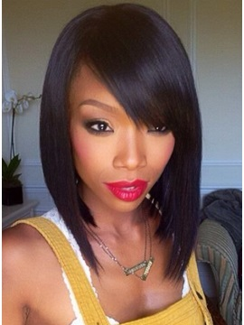 Latest Trend Short Hairstyle Unique Soft Natural Human Hair Wigs 14 Inches