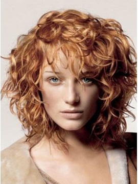 Latest Hairstyle Most Attractive Medium Wavy Human Hair Prom Wig About 12 Inches